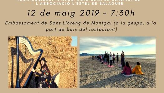 """La Noguera se suma a l'esdeveniment de ioga solidari """"108 salutacions al sol"""""""