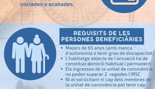 Oberta la convocatòria d'ajuts per adequar els habitatges de persones grans