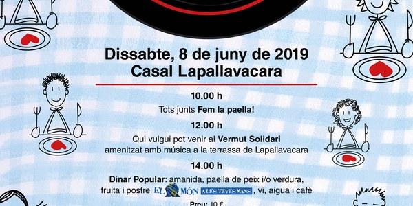La Taula d'Entitats de Balaguer del PDC de la Noguera organitza el 5è Dinar Comunitari