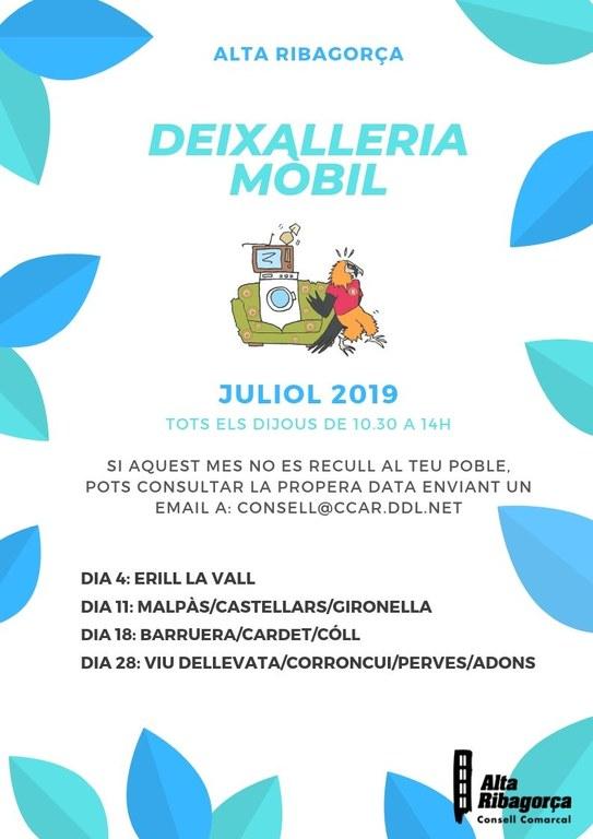 Deixalleria mobil juliol 2019